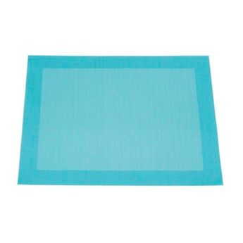 SET DE TABLE VINY´L 36X48 TURQUOISE 100% PVC - HARMONY