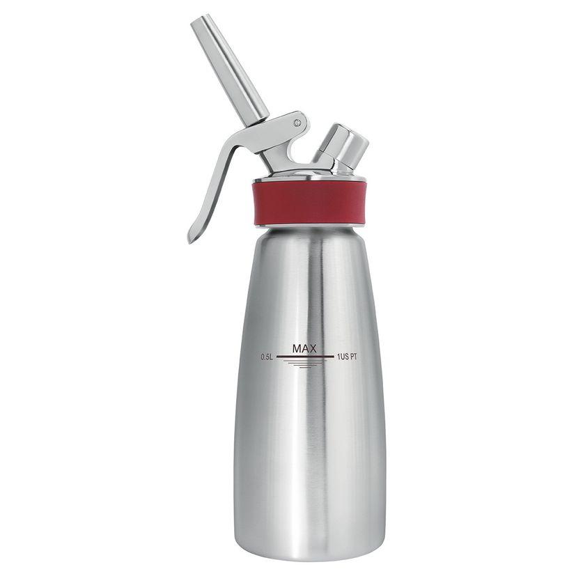 Siphon gourmet Whip 0.5L professionnel en inox pour chantilly et espuma froid ou chaud - Isi