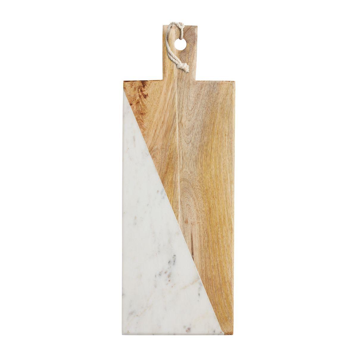 Planche rectangulaire marbre et manguier 49.5x18cm - Master Class