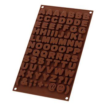 Achat en ligne Moule à chocolats en silicone lettres - Silikomart