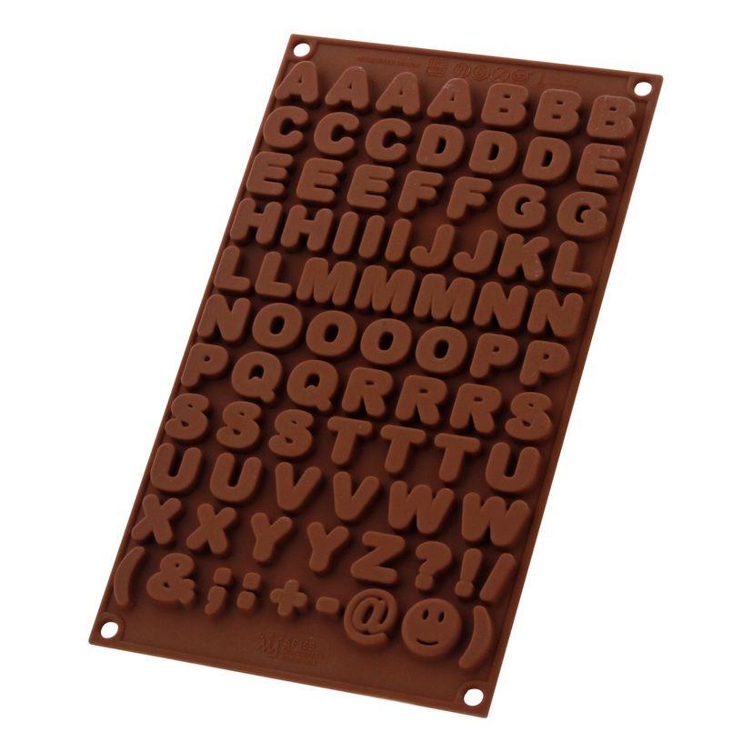 Moule à chocolat en silicone Lettres - Silikomart