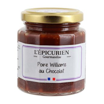 Pâte à tartiner poire williams au chocolat 210 g - L´Epicurien