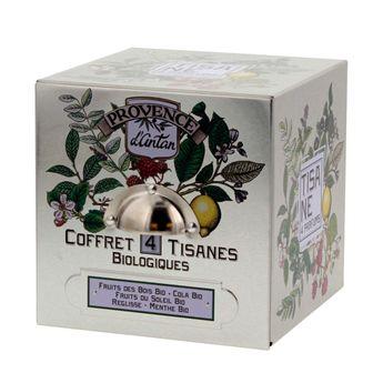 CUBE METAL COFFRET 4 SAVEURS 24 SACHETS BIO* 48G - PROVENCE D´ANTAN
