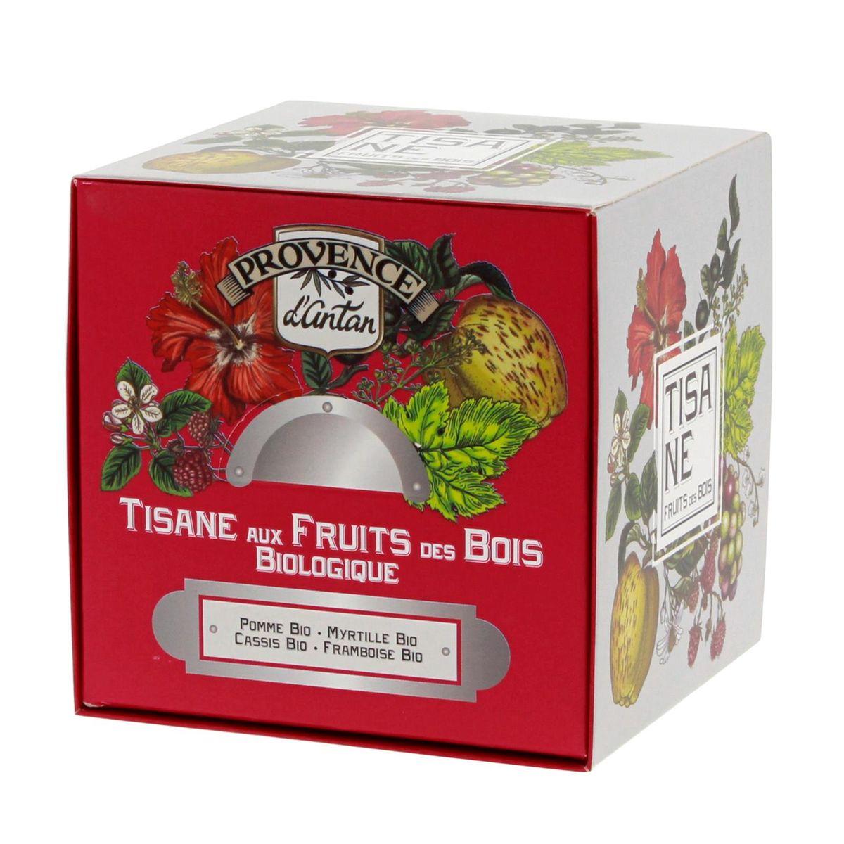Recharge cube tisane aux fruits des bois 24 sachets bio* 60g - Provence d´Antan