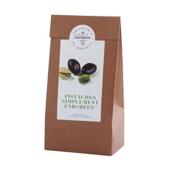 PISTACHES DU LIBAN  ENROBEES DE CHOCOLAT - CAFETASSE