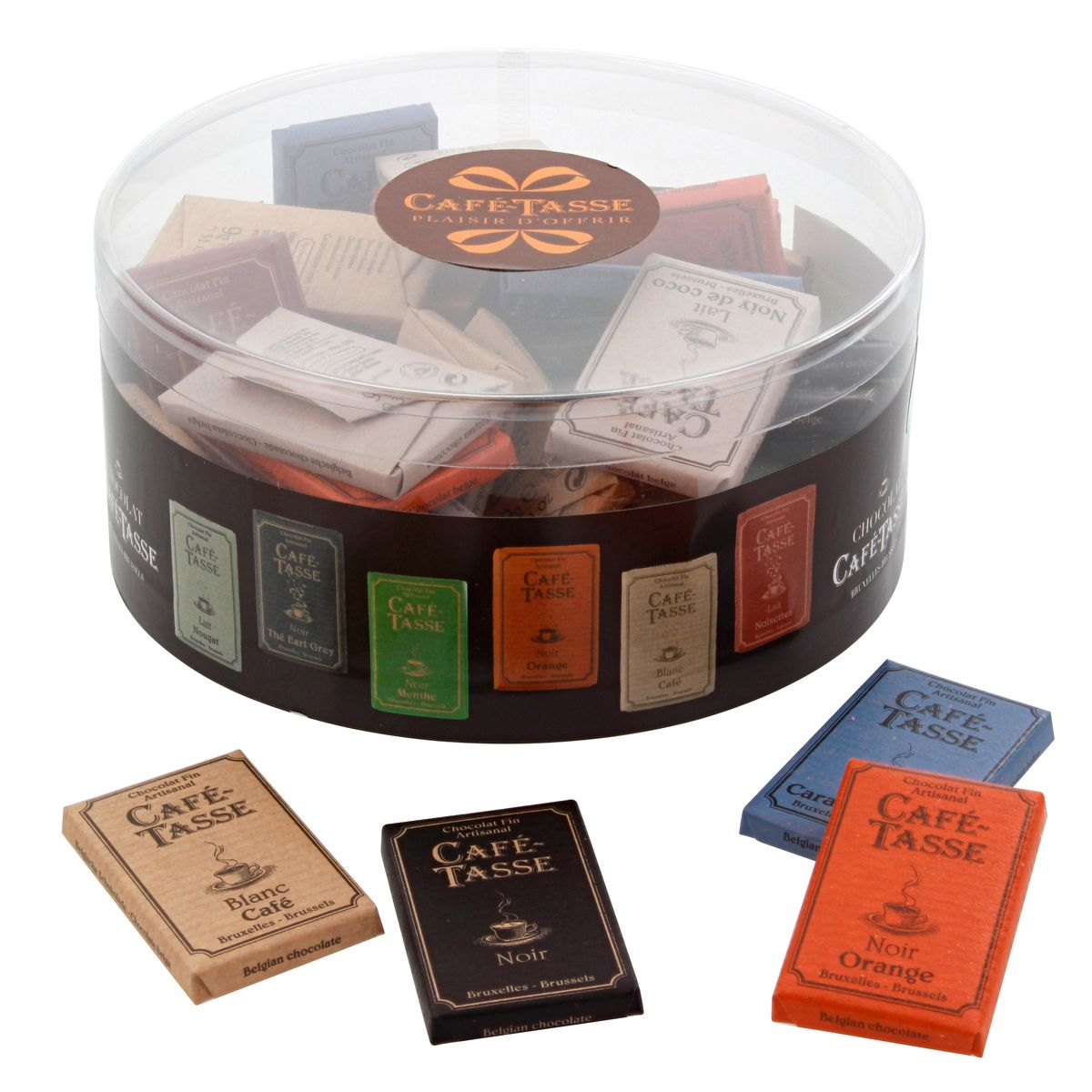 TUBO 40 MINI TABLETTES ASSORTIES - CAFETASSE