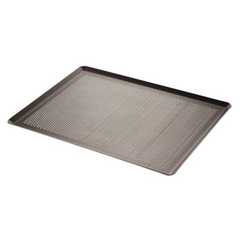 Achat en ligne Plaque pâtissière choc aluminium perforée 40 x 30 cm - De Buyer
