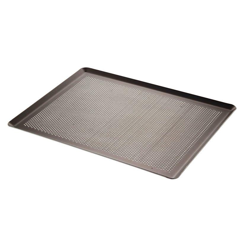 Plaque pâtissière choc aluminium perforée 40 x 30 cm - De Buyer