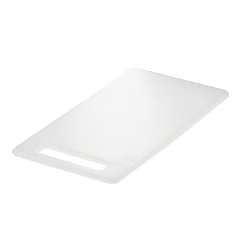 Planche blanche antibacterienne en polyéthylène 25x15 cm - Demolli