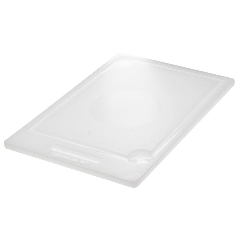 Planche blanche antibacterienne en polyéthylène 30x44 cm - Demolli