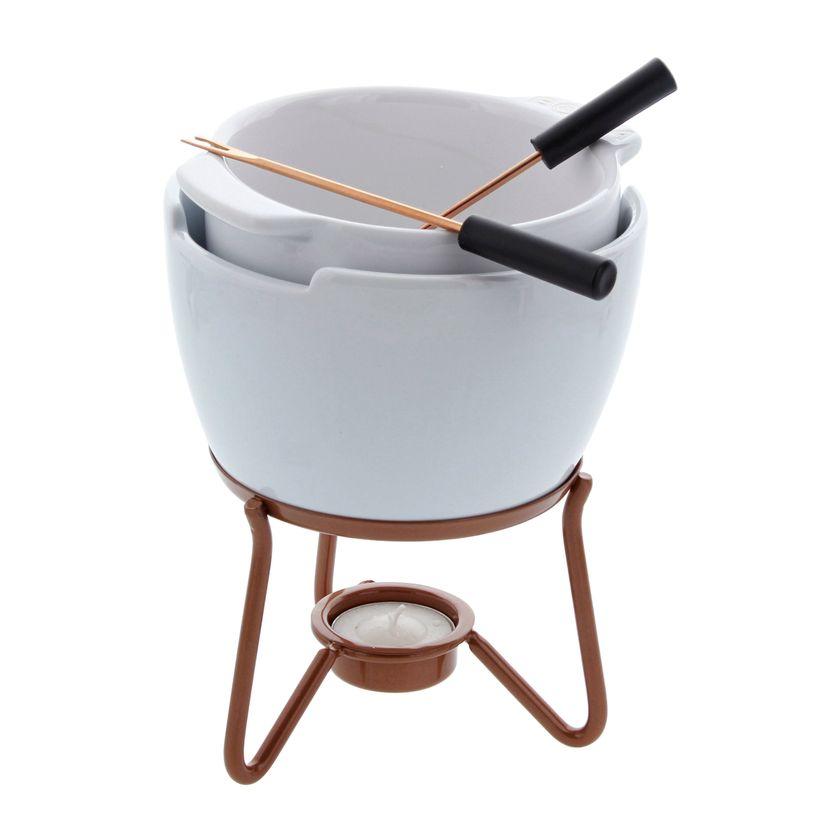 Fondue chocolat bain-marie en céramique - Boska