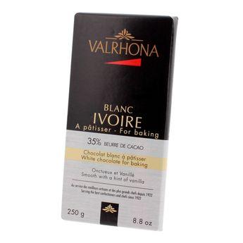 Achat en ligne Mini-blocs chocolat blanc à pâtisser ivoire 35% 250gr - Valrhona