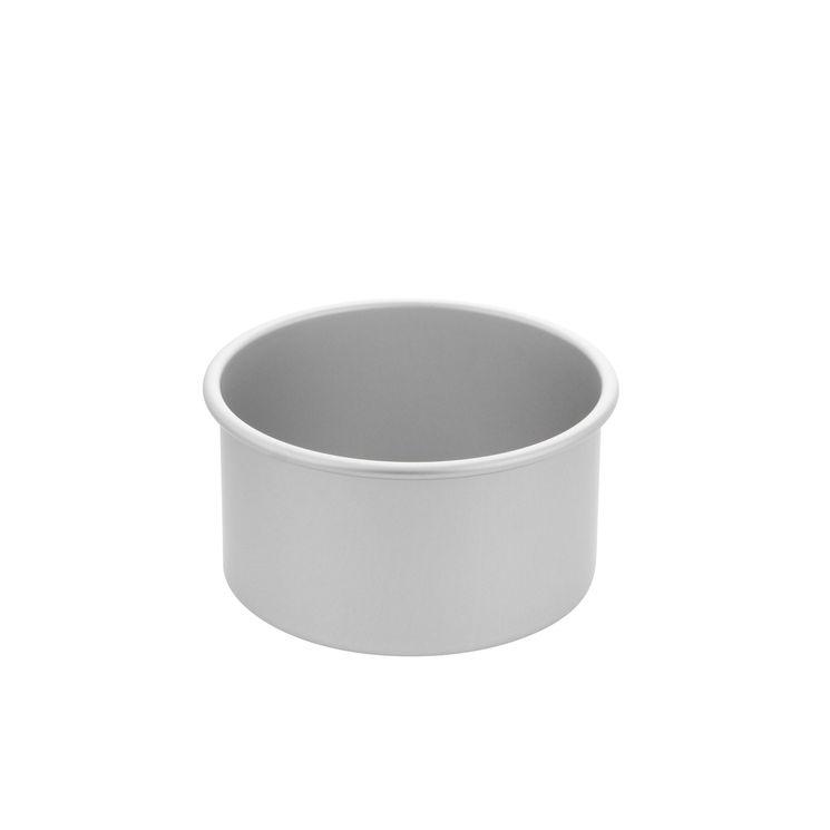 Moule à bords hauts avec fond amovible en aluminium 10 x 18 cm - Daudignac