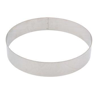 Cercle à entremets inox 28 cm - De Buyer