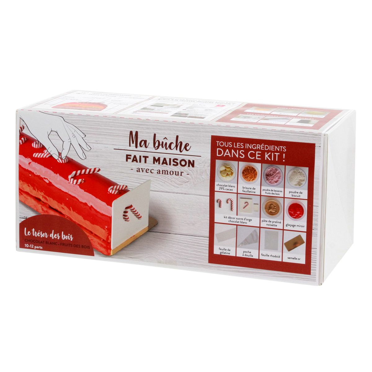 COFFRET INGREDIENTS BUCHE FRUITS ROUGES CHOCOLAT BLANC - ALICE DELICE