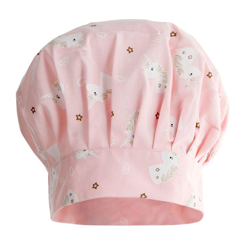 Toque enfant licorne rose 24x26 cm