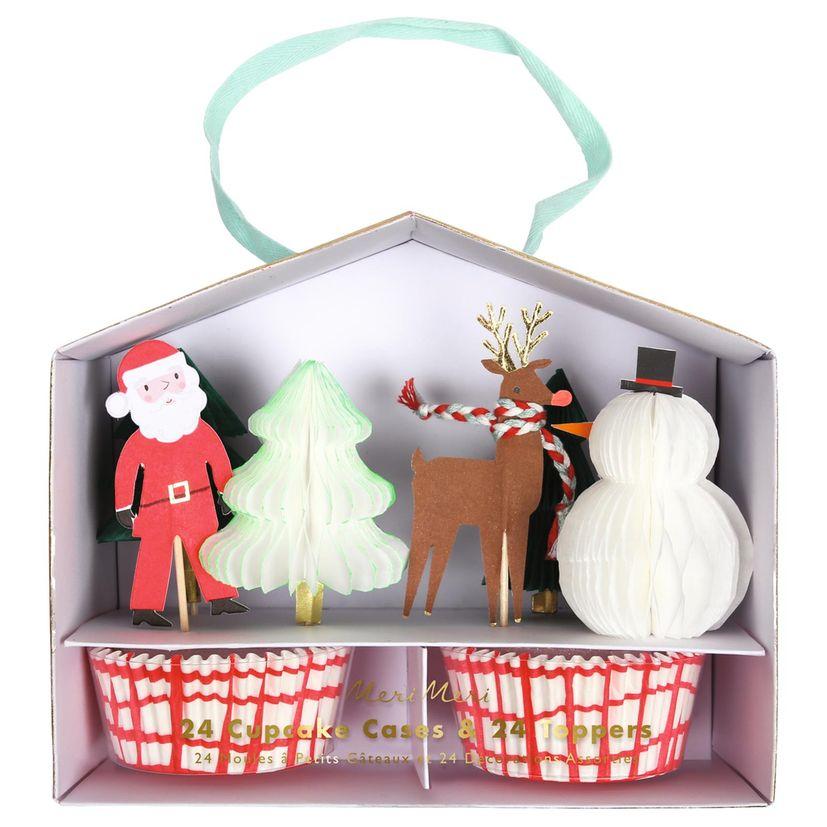 """Kit cupcakes """"Père Noël renne"""" - Meri Meri"""