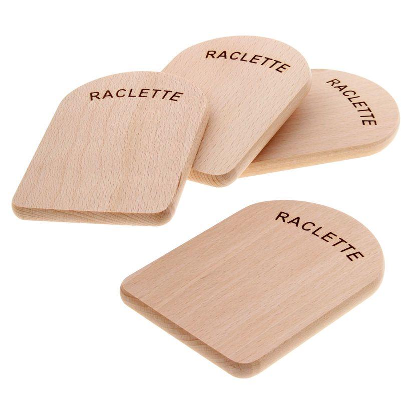 4 planchettes pour poêlon à raclette - Kela