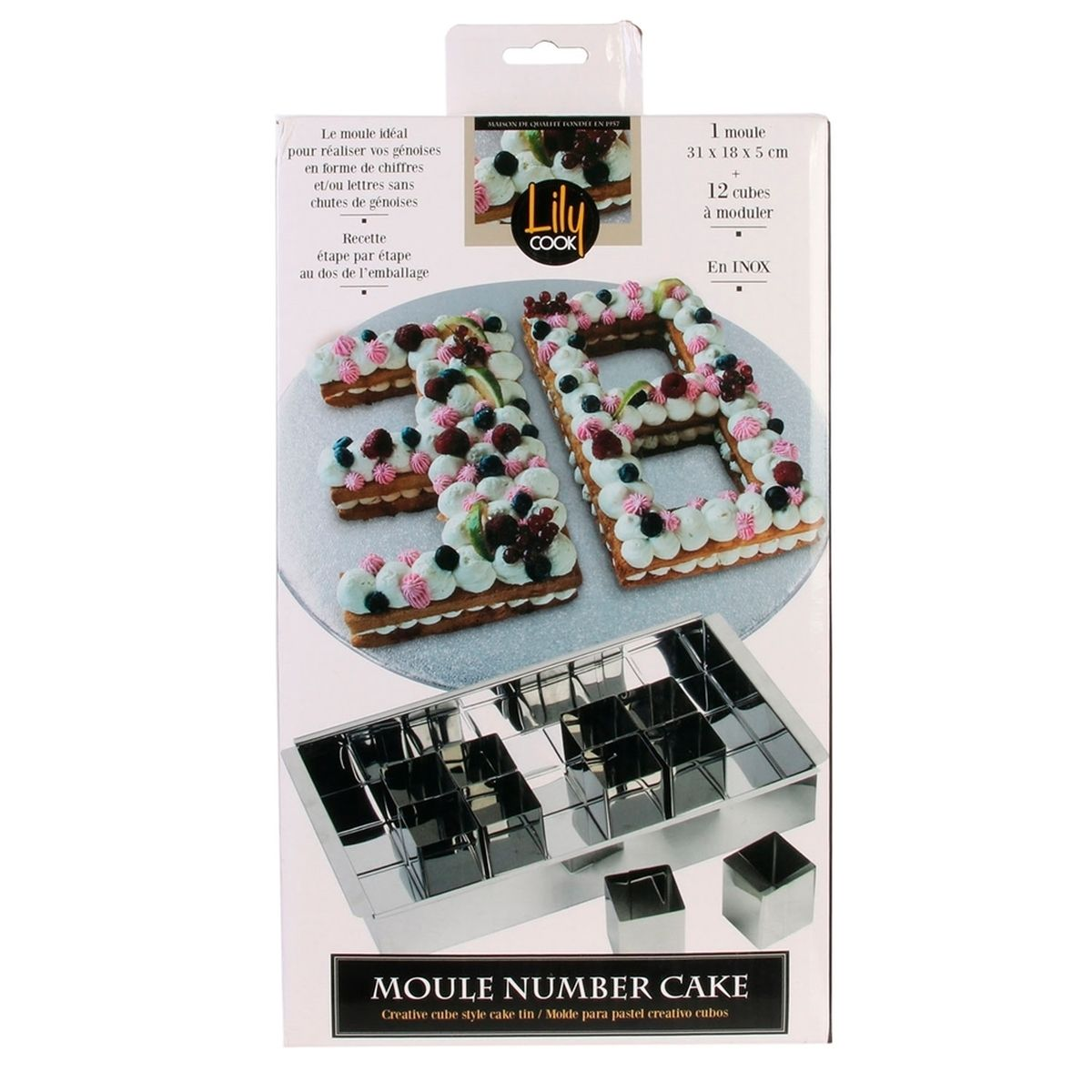 Moule Number Cake et Letter Cake - Lily Cook