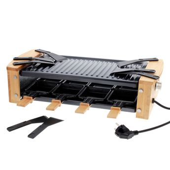 Achat en ligne Raclette électrique finition bois pour 8 pers  - Kitchen Chef