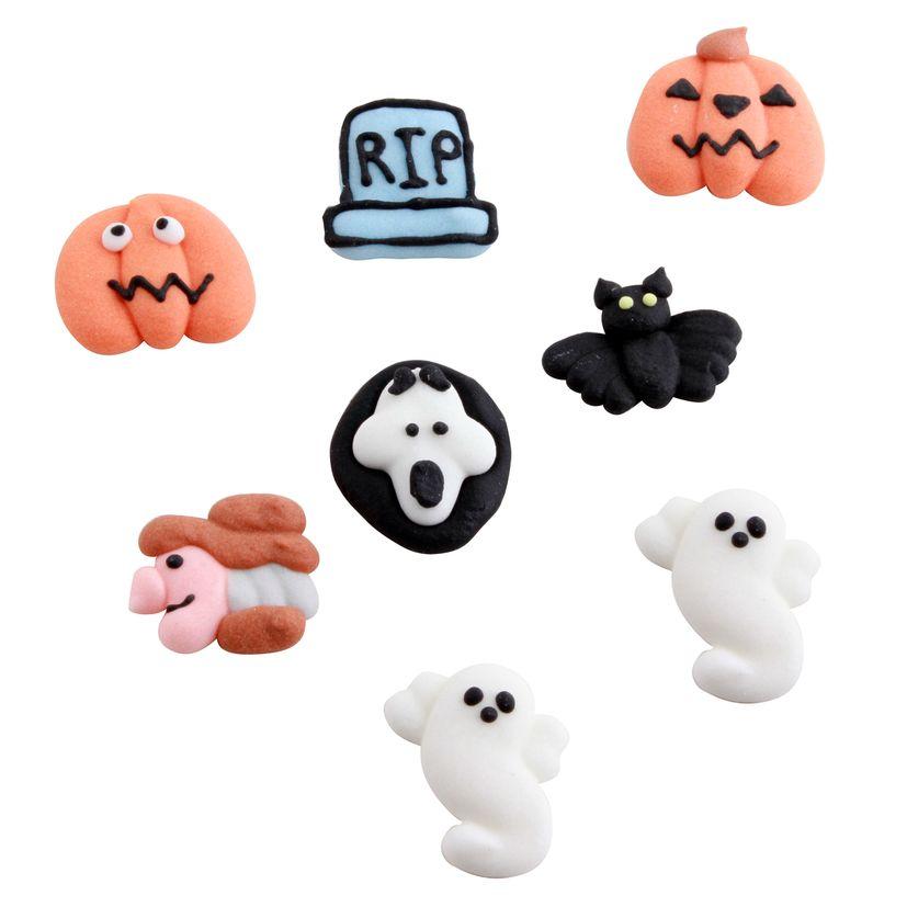 8 décors en sucre 2D Halloween 7.5 g - Alice Délice