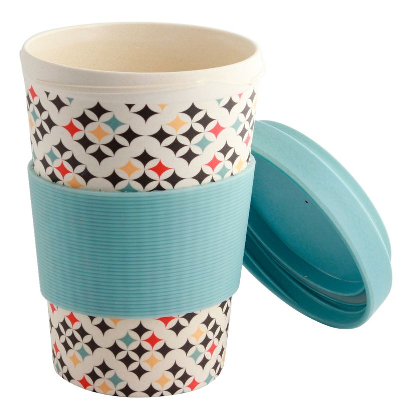 MUG NOMADE EN FIBRE DE BAMBOU CARREAUX 500ML - POINT VIRGULE