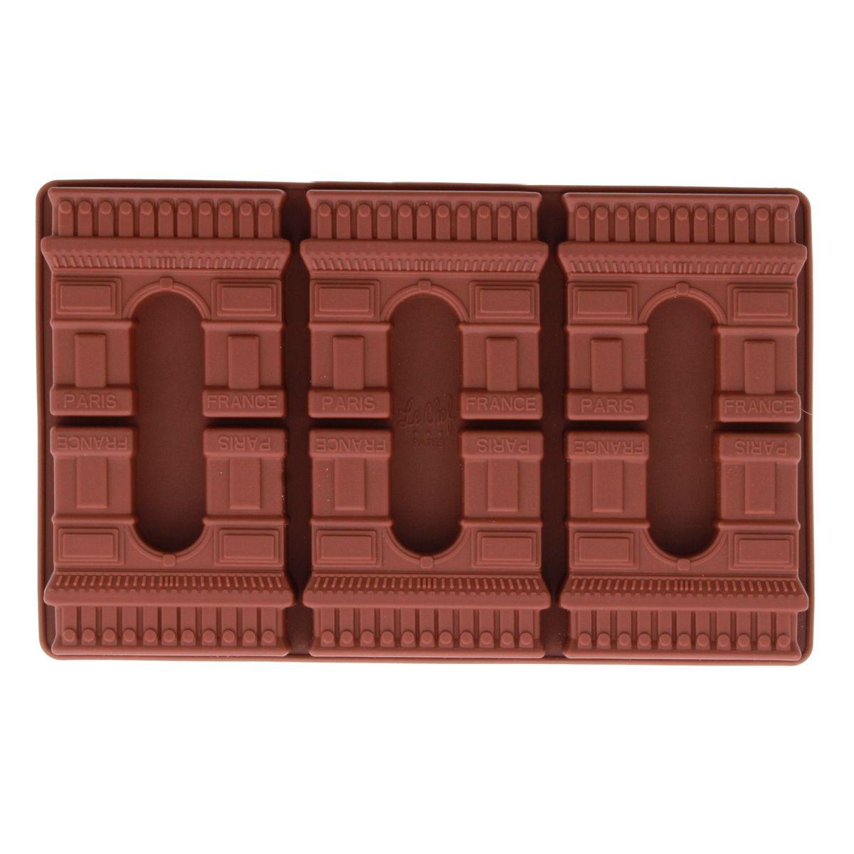 MOULE A CHOCOLAT EN SILICONE MARRON ARC DE TRIOMPHE - LE CHEF PARIS
