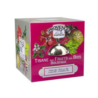 Cube métal tisane aux fruits des bois 24 sachets bio* 60g - Provence d´Antan