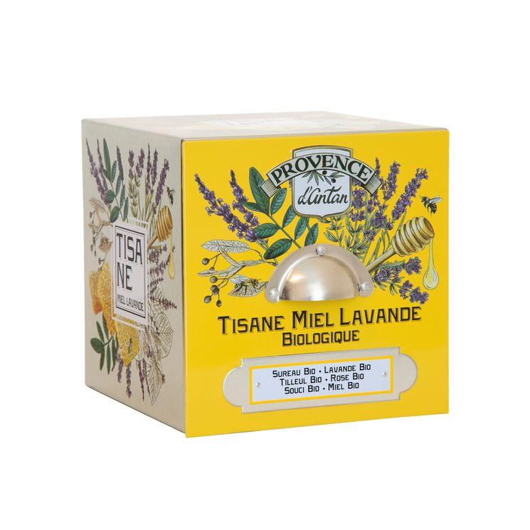 Cube métal lavande miel bio* 36g - Provence d´Antan