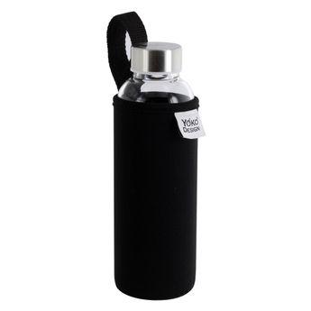 Achat en ligne Bouteille en verre avec pochette néoprène noire 500ml - Yoko Design