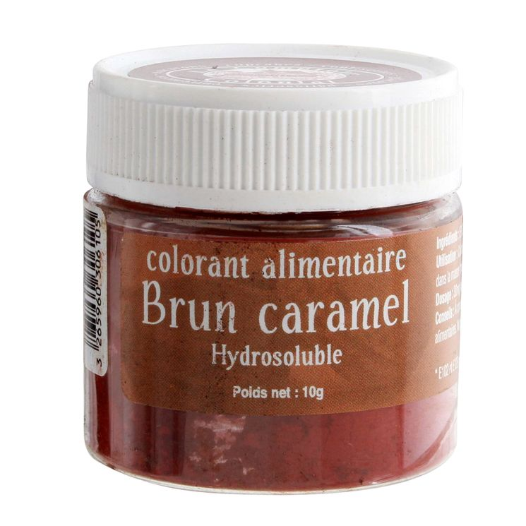 Colorant alimentaire hydrosoluble 10gr brun caramel - Le Comptoir Colonial