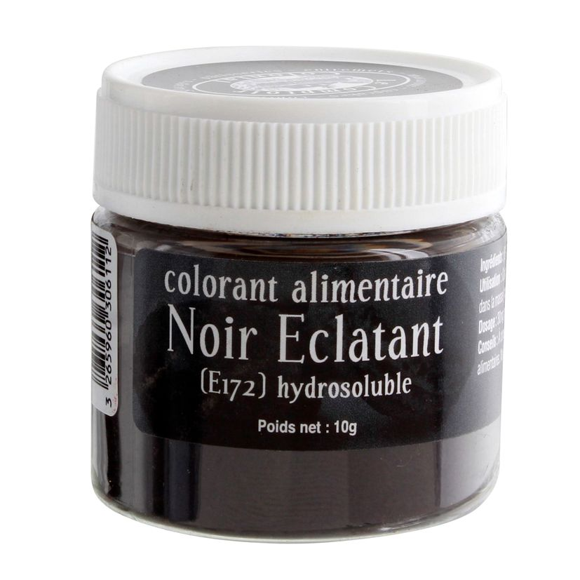 Colorant alimentaire hydrosoluble noir éclatant 10 gr - Le Comptoir Colonial