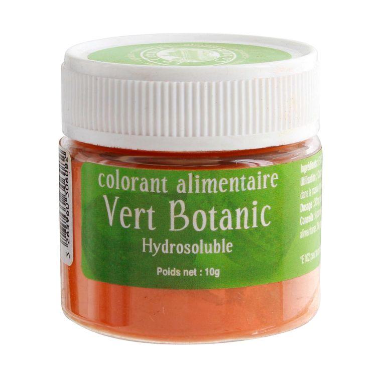 Colorant alimentaire hydrosoluble 10gr vert botanique - Le Comptoir Colonial