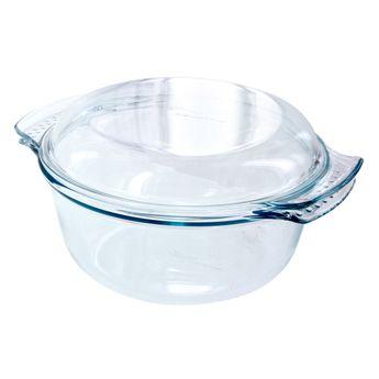 Achat en ligne Cocotte en verre ronde 29x23cm (2.5l + couvercle 1l )- Pyrex
