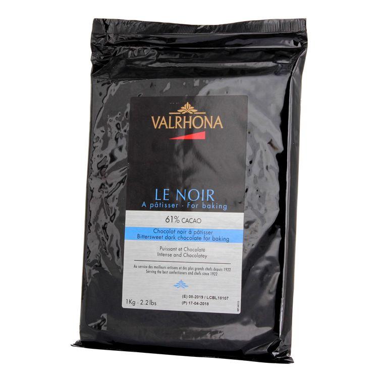 Tablette chocolat noir à pâtisser Le Noir 61% 1 kg - Valrhona