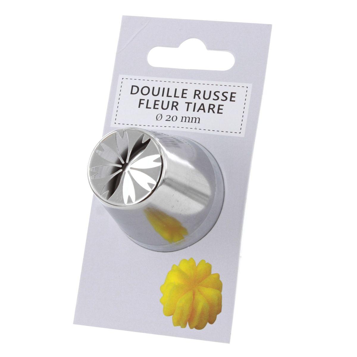 Douille inox russe fleur tiaré 20 mm