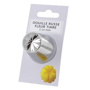 Achat en ligne Douille inox russe fleur tiaré 20 mm
