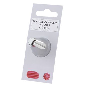 Douille cannelée 8 dents 9mm