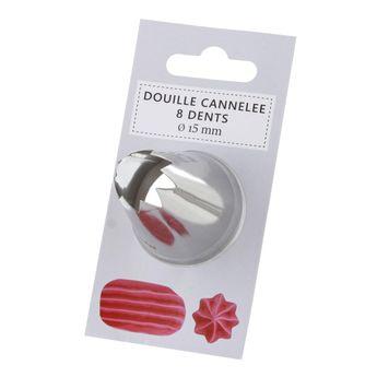 Douille cannelée 8 dents 15mm