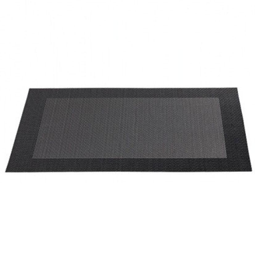 SET TABLE PLASTIQUE  NOIR - ASA