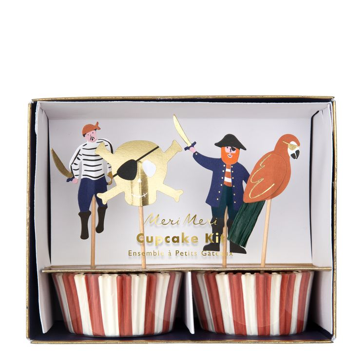 Kit cupcakes pirates - Meri Meri
