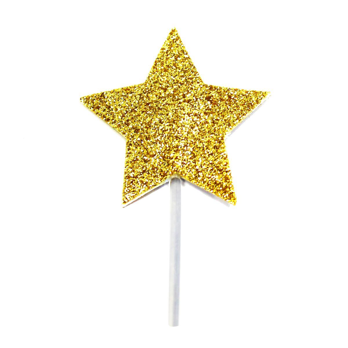Décor de gâteau : 12 étoiles dorées - Creative Party