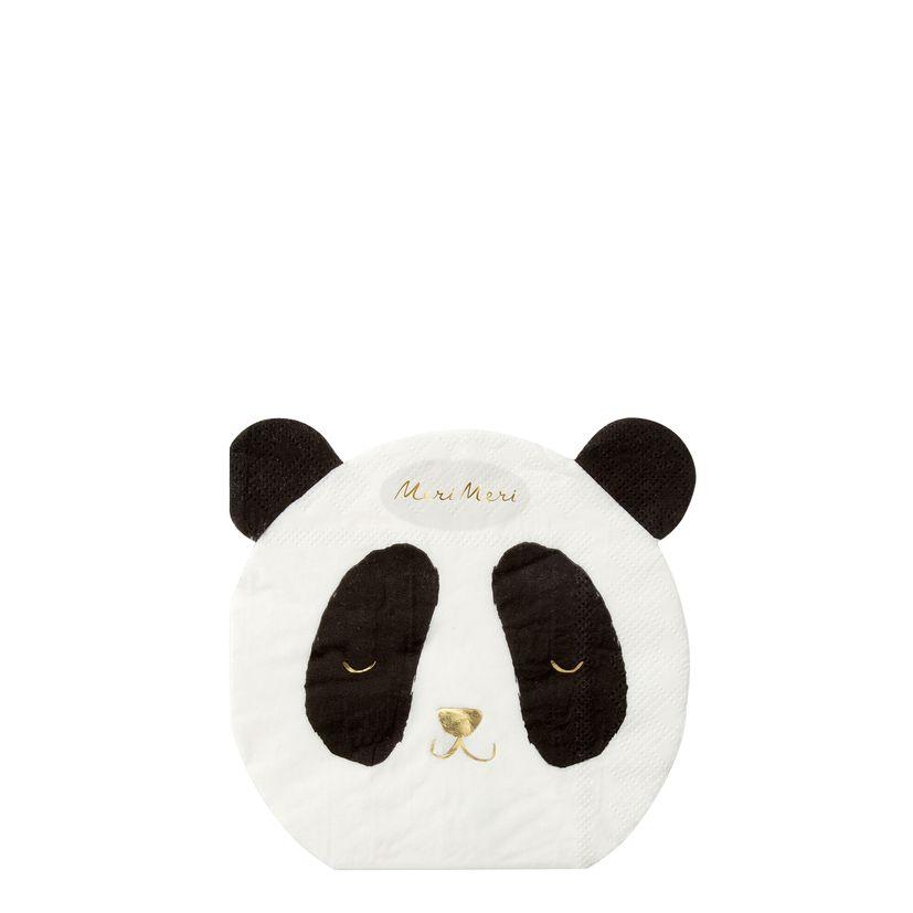 16 petites serviettes panda - Meri Meri