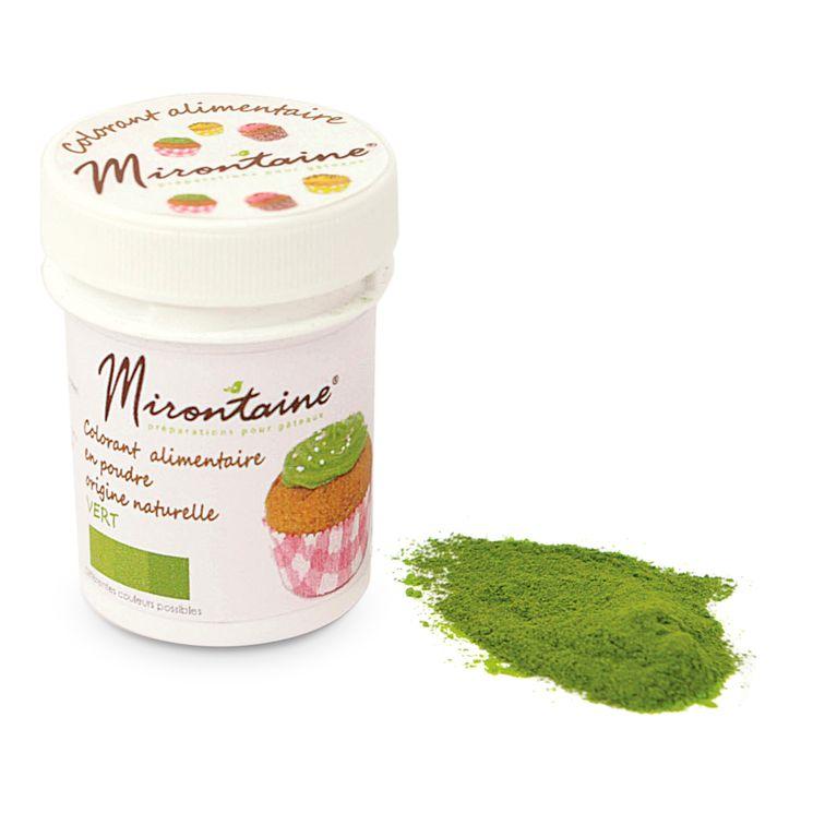 Colorant alimentaire en poudre naturel bio vert 10 gr - Mirontaine