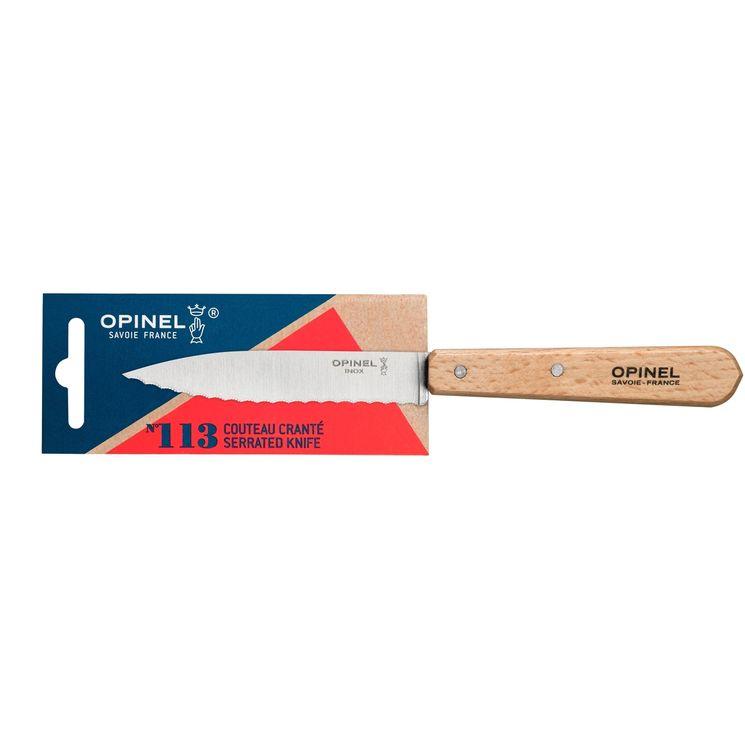 Couteau cranté n°113 naturel - Opinel
