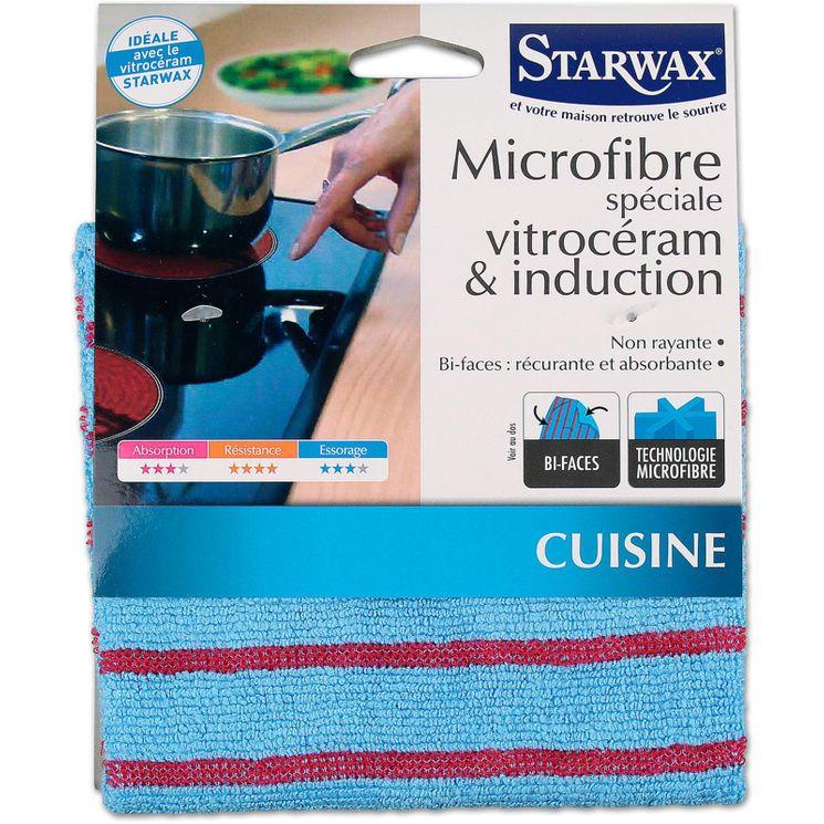Microfibre spéciale vitroceram et induction 22x18.50 cm - Starwax