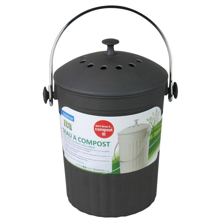 Poubelle seau à compost avec filtres charbon anti-odeurs - Eddington´s