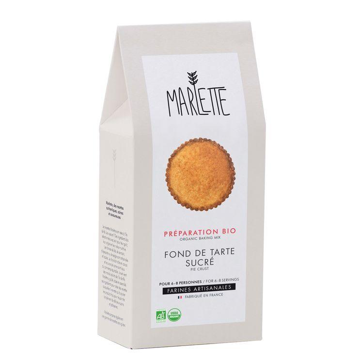 Préparation bio pour fond de tarte sucré 300gr - Marlette