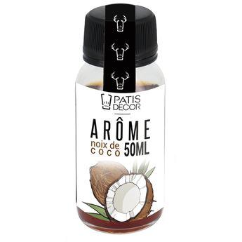 Achat en ligne Arôme alimentaire naturel noix de coco 50 ml - Patisdecor