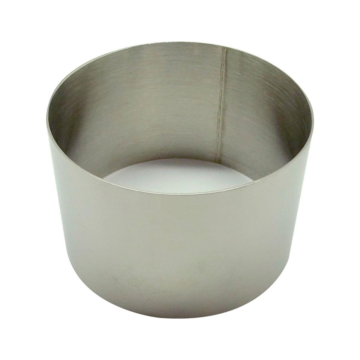 Cercle inox diamètre 7 cm et hauteur 4.5 cm